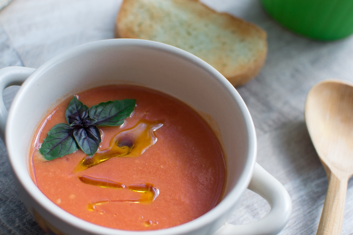 Суп из помидоров гаспачо